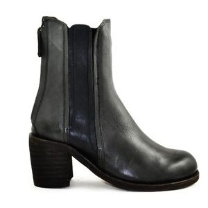 Gee WaWa Grey Blue Leather Boots Anthropologie